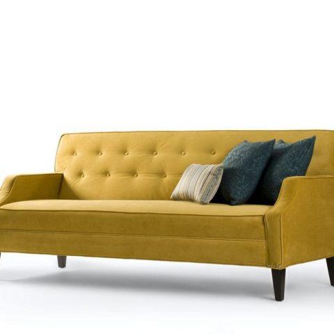 canapé jaune velours