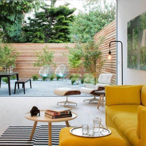 salon ouvert sur jardin