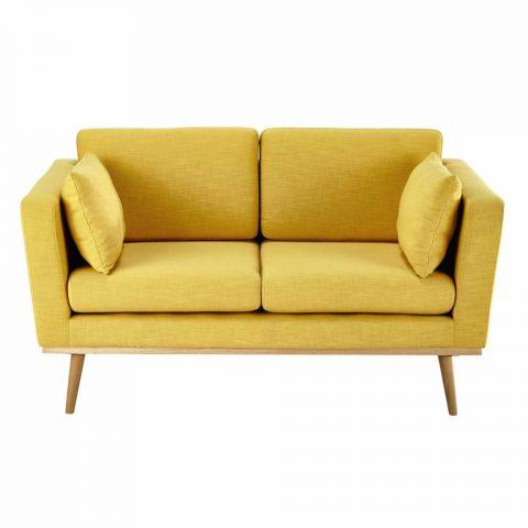 canapé 2 places jaune