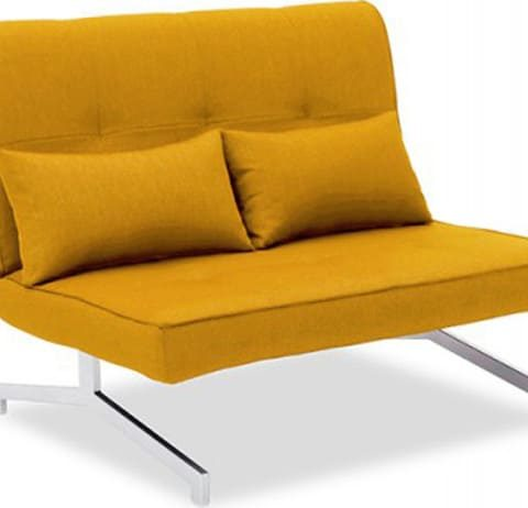 canapé lit jaune
