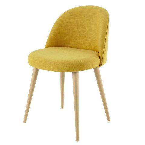 photo de chaise jaune vintage