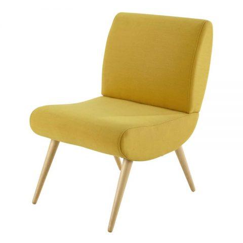 fauteuil jaune avec dossier design