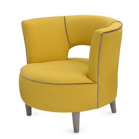 photo fauteuil jaune clair design